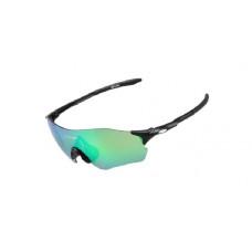 Очки велосипедные GUB 5100 с зеленой линзой черный
