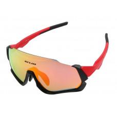 Очки велосипедные GUB 5700 ANTI FOG со сменными линзами красный