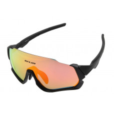 Очки велосипедные GUB 5700 ANTI FOG со сменными линзами черный
