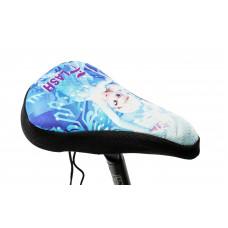 Накладка на детское седло FROZEN черно-голубая
