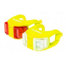 Мигалки ONRIDE Dual набір (передня+задня) жовтий