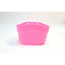 Корзина розовая пластиковая
