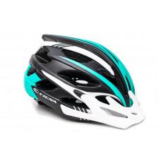 Шлем велосипедный Cigna WT-016 черно-бирюзовый