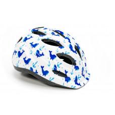 Шлем детский FSK KY501 бело-голубой