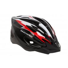 Шлем велосипедный Bravvos черно-красный HEL-127
