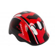 Шлем велосипедный детский Bravvos черно-красный