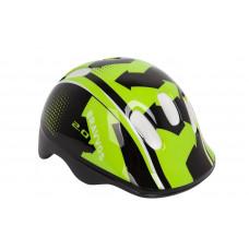 Шлем велосипедный детский Bravvos черно-салатовый