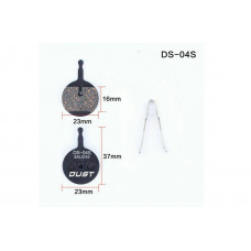 Колодки тормозные полуметалл disc DUST DS-04S AVID BB5