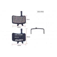 Колодки тормозные полуметалл disc DUST DS-05S AVID BB7, Juicy 3/5/7