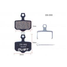 Колодки тормозные полуметалл disc DUST DS-06S AVID ELIXI/R/CR Mag /E1/E3/E5/E7/E9/XO/XX